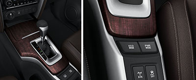 6-speed transmission / Drive mode switch